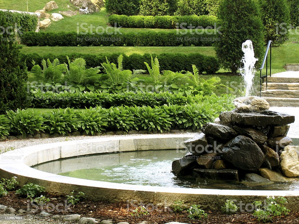 Fountain stock photo