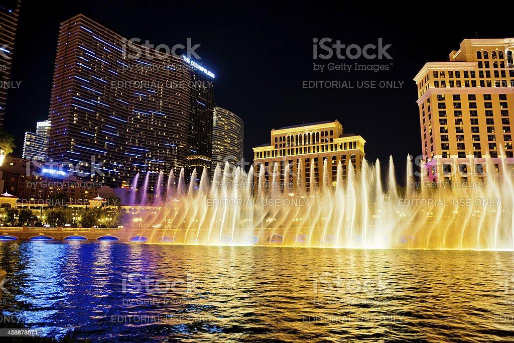 Fountain Show, Las Vegas, Nevada, USA royalty-free stock photo