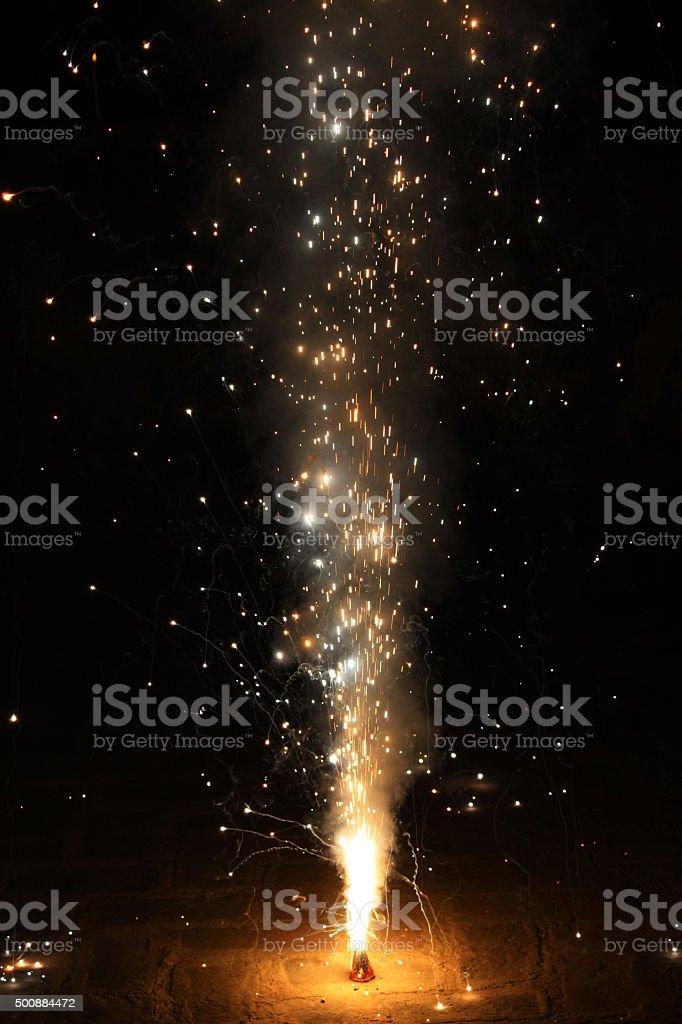 Fountain Sparkler stock photo