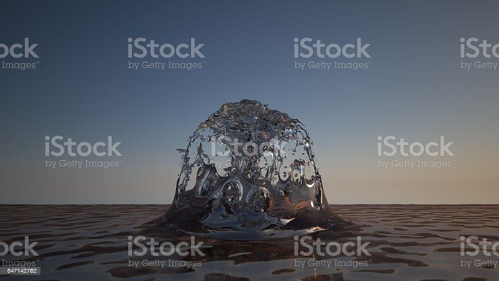 fountain splash royalty-free stock photo