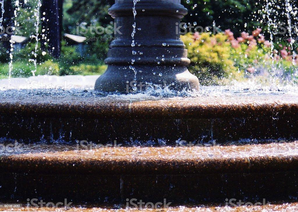 Fountain Splashes royalty-free stock photo