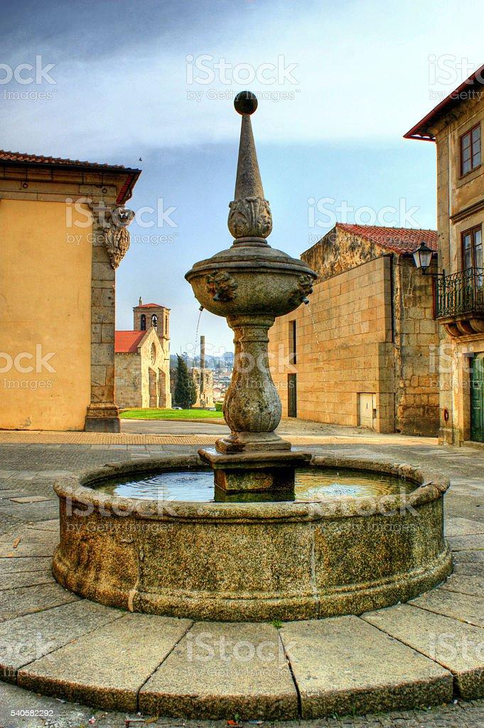 Fountain square in Barcelos stock photo