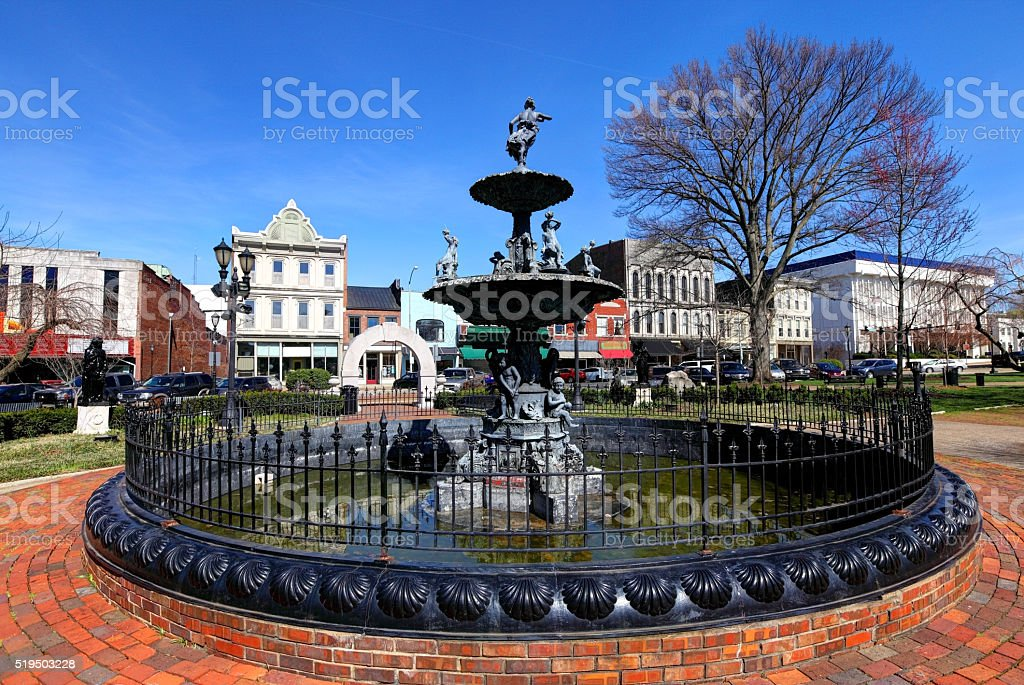 Fountain Square in downtown Bowling Green, Kentucky stock photo