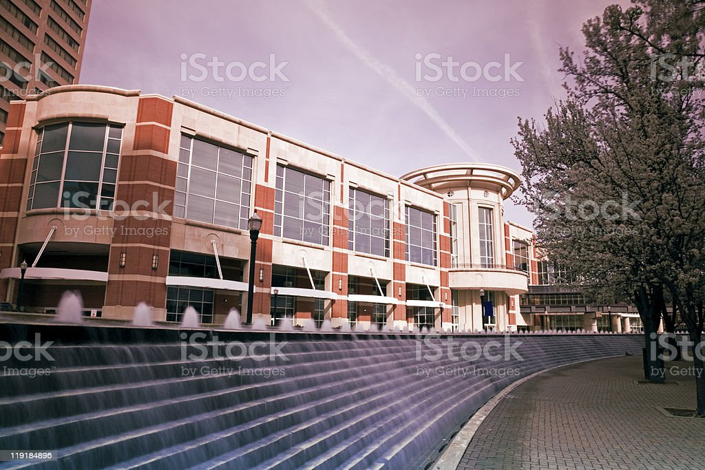 Fountain stairs in Lexington stock photo