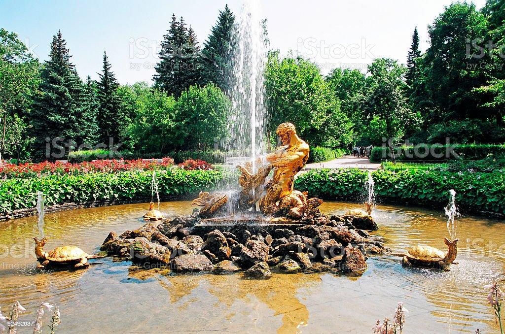 Fountain Triton royalty-free stock photo