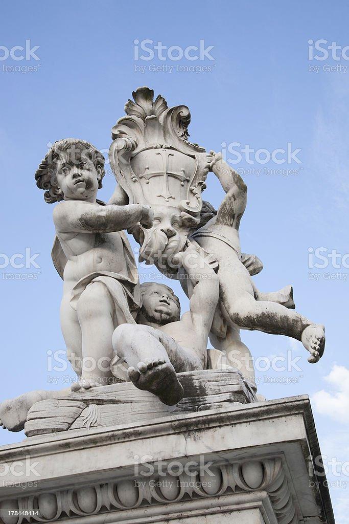 Fountain with Angels - Fontana dei Putti, Pisa stock photo
