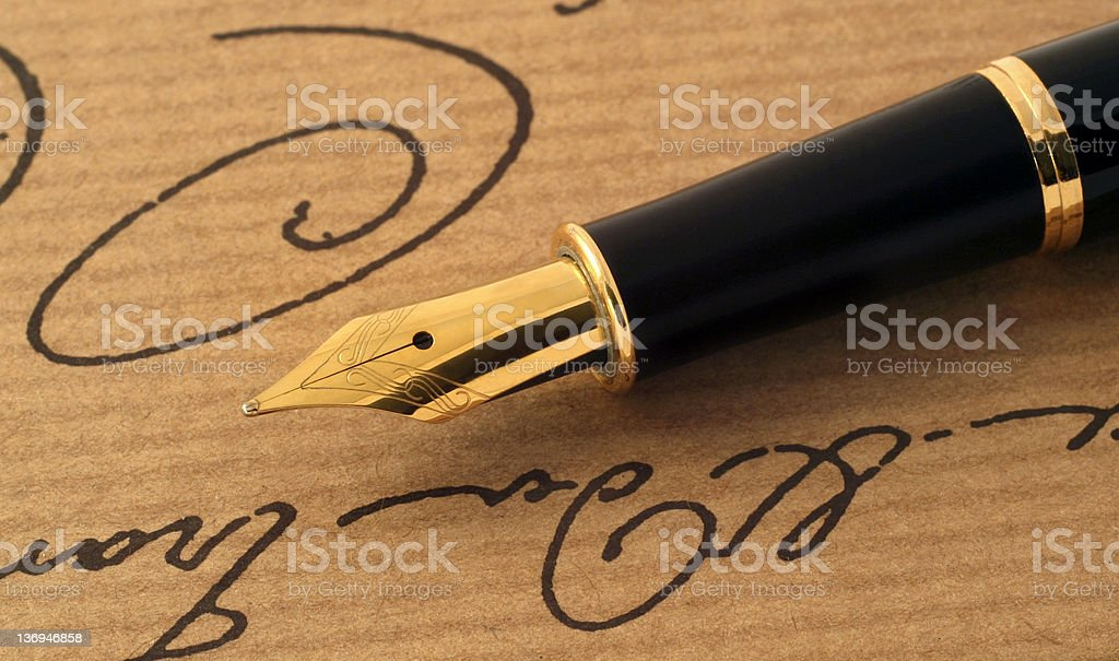 Fountain-pen stock photo
