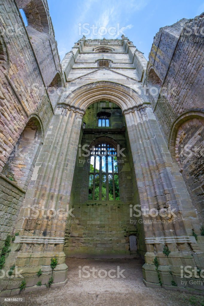 Fountains Abbey stock photo
