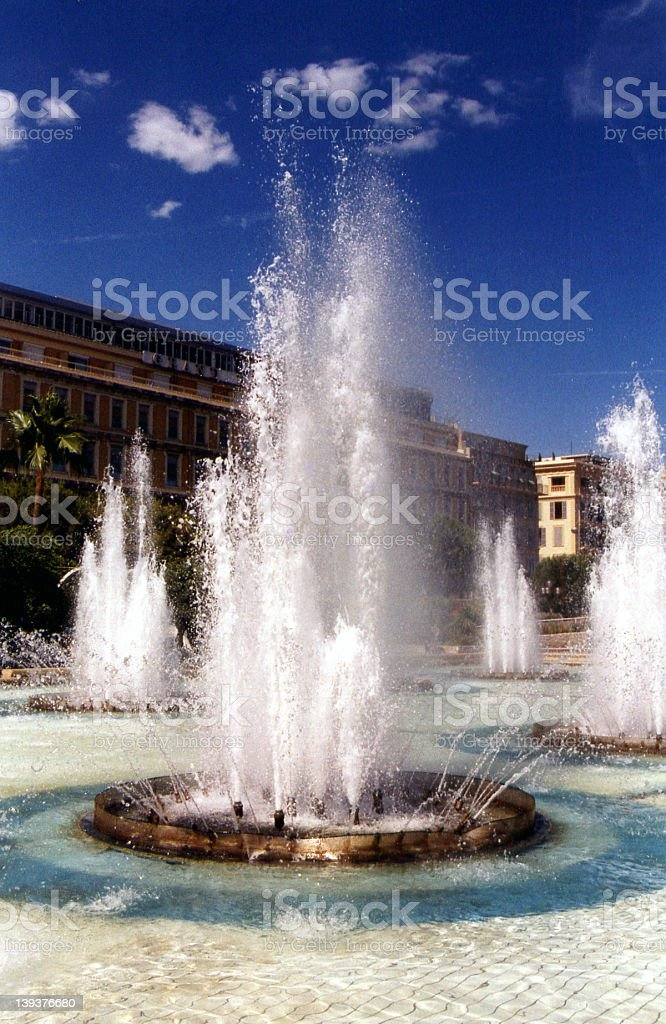 Fountains in Nice II royalty-free stock photo