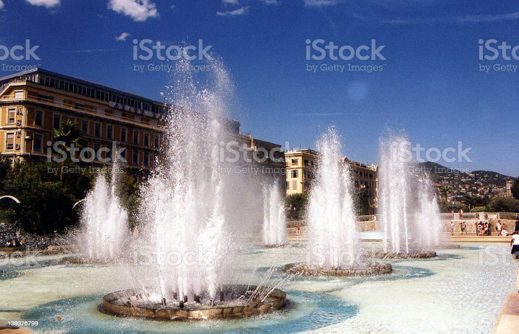 Fountains In Nice royalty-free stock photo
