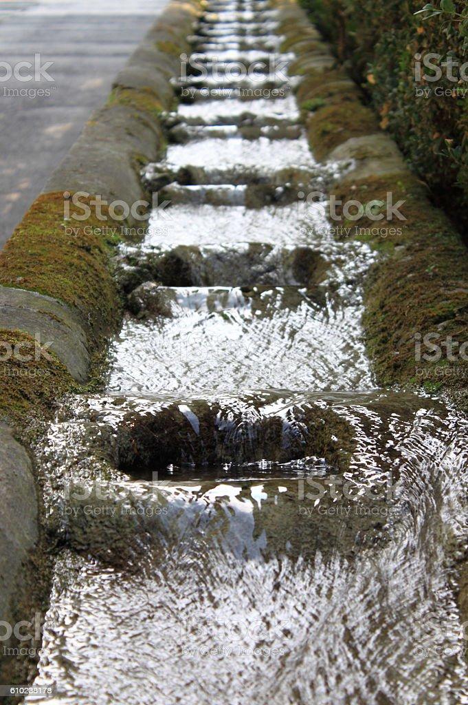 Fountains in Villa d'Este stock photo
