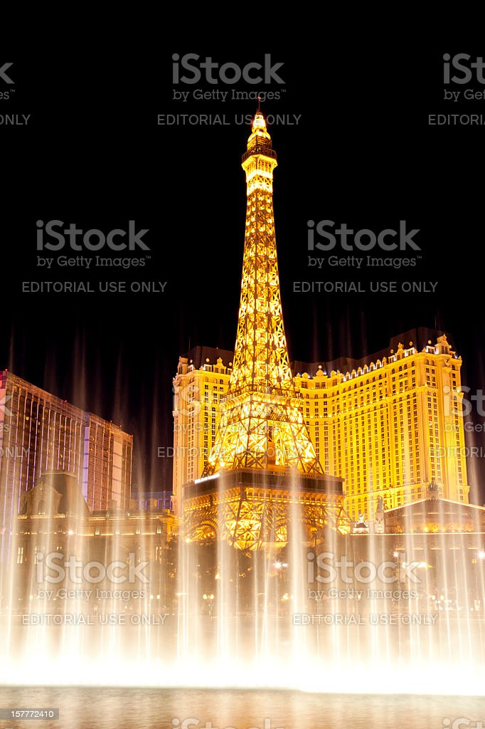 Fountains of Bellagio in Las Vegas royalty-free stock photo