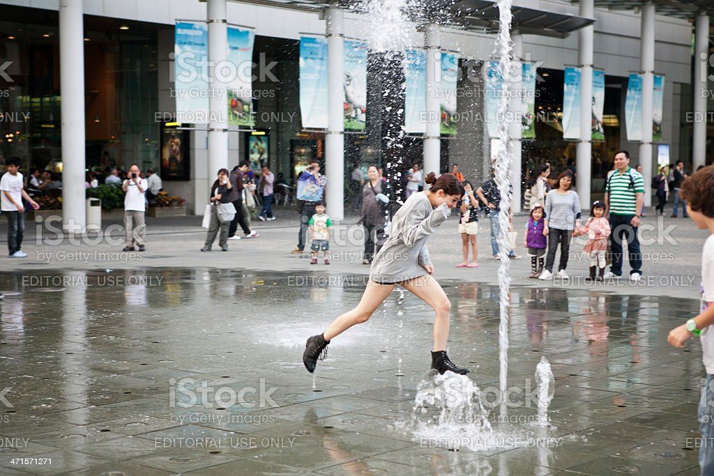 fountains of Hong Kong royalty-free stock photo