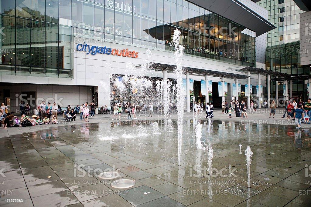 fountains of Hong Kong royalty-free stock photo