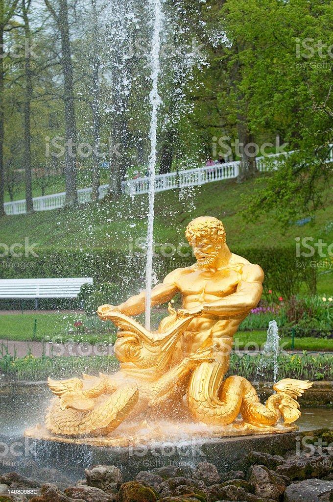 Fountains of Petergof, Saint Petersburg, Russia royalty-free stock photo