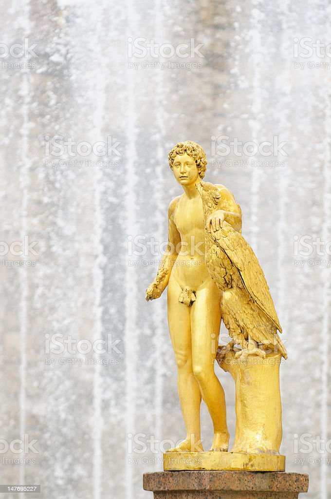 Fountains of Petergof, Saint Petersburg, Russia royalty-free stock photo