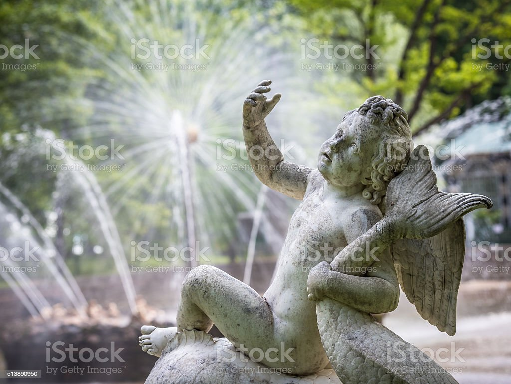 Fountains of Petergof, Saint Petersburg, Russia stock photo