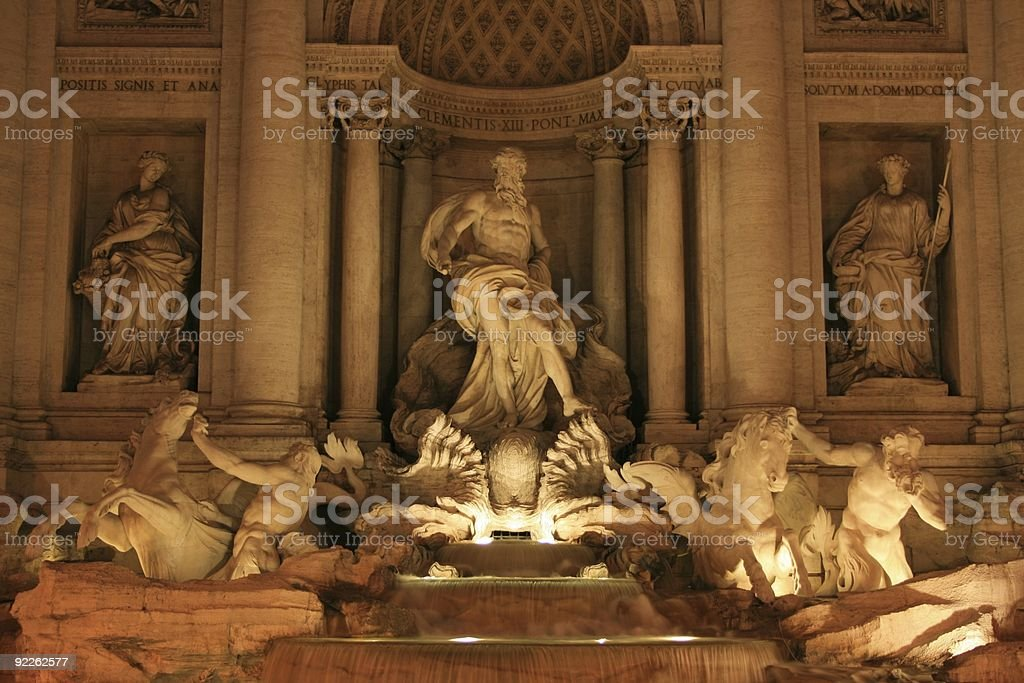 Fountains of Rome royalty-free stock photo