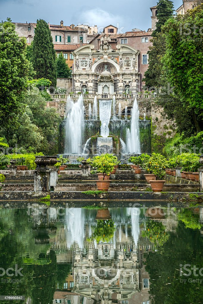 Fountains Of Villa d'Este, Italy stock photo
