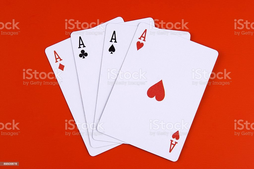 Four ace stock photo