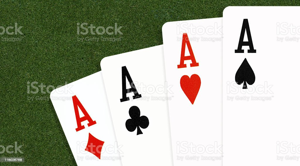 Four Aces in Poker stock photo