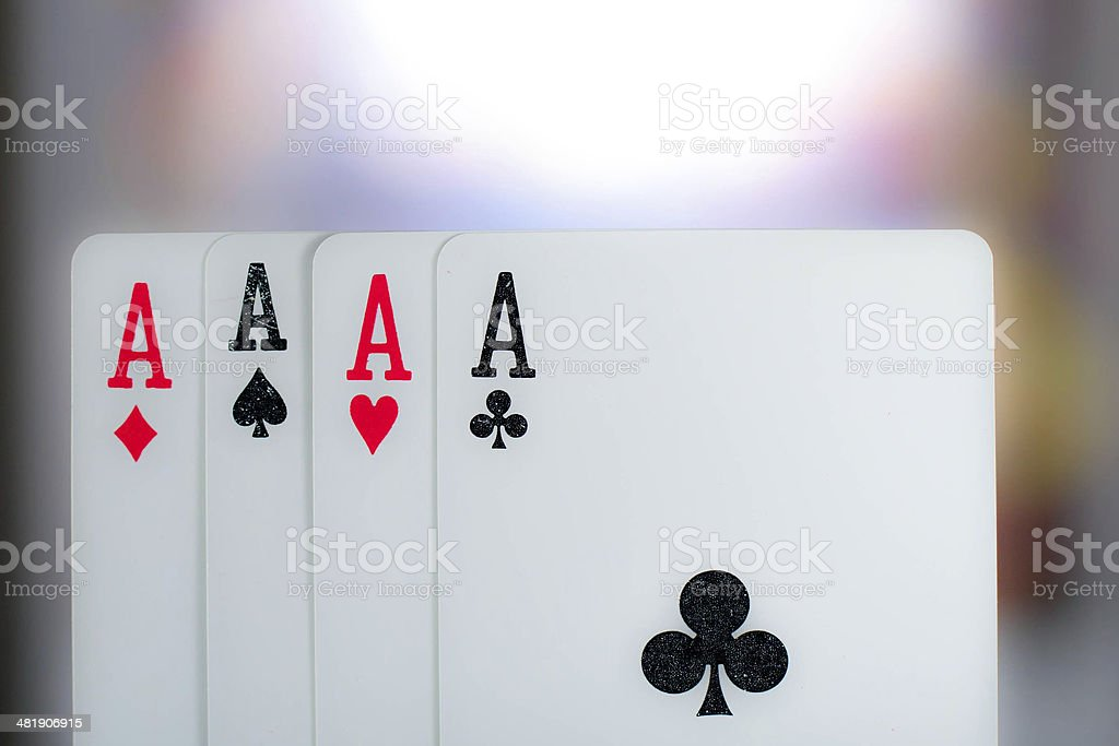 Four aces isolated royalty-free stock photo