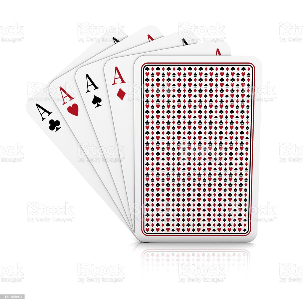 four aces on white background royalty-free stock photo