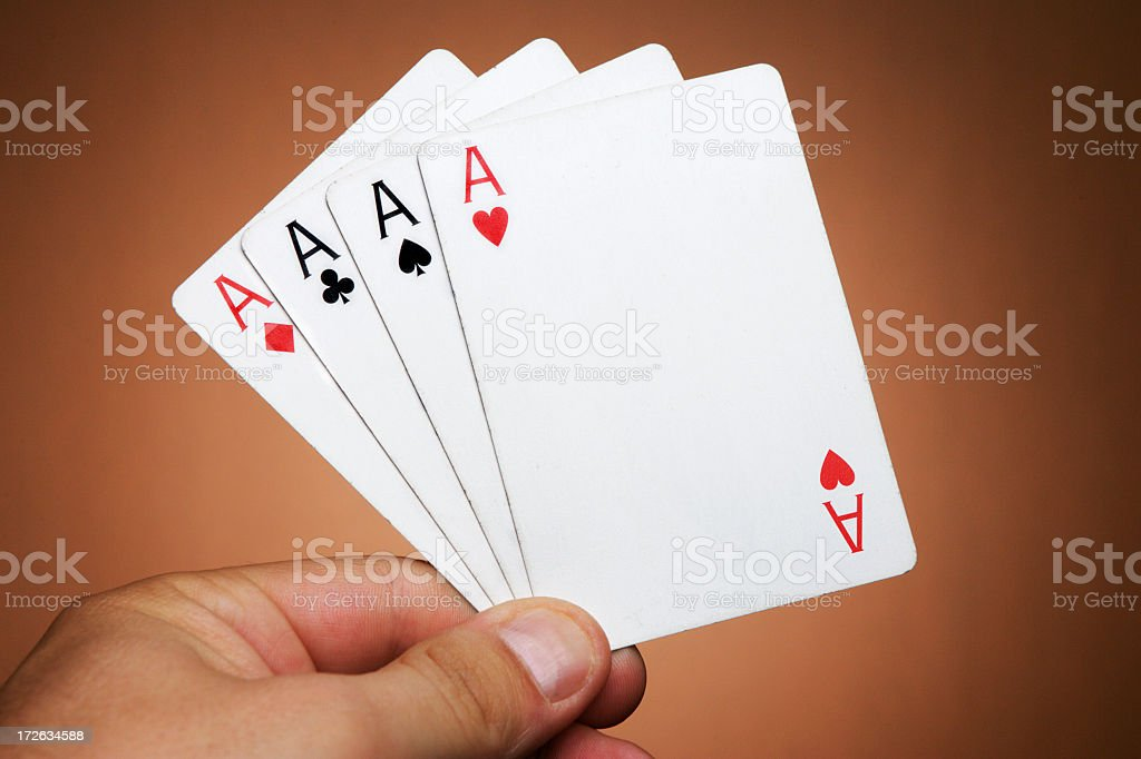 Four Aces royalty-free stock photo
