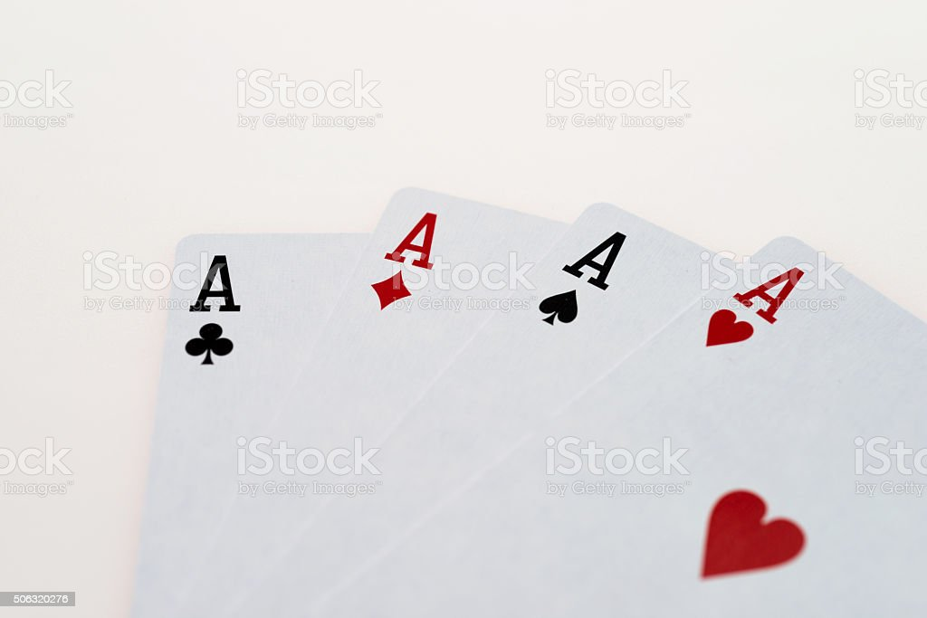 Four Aces stock photo