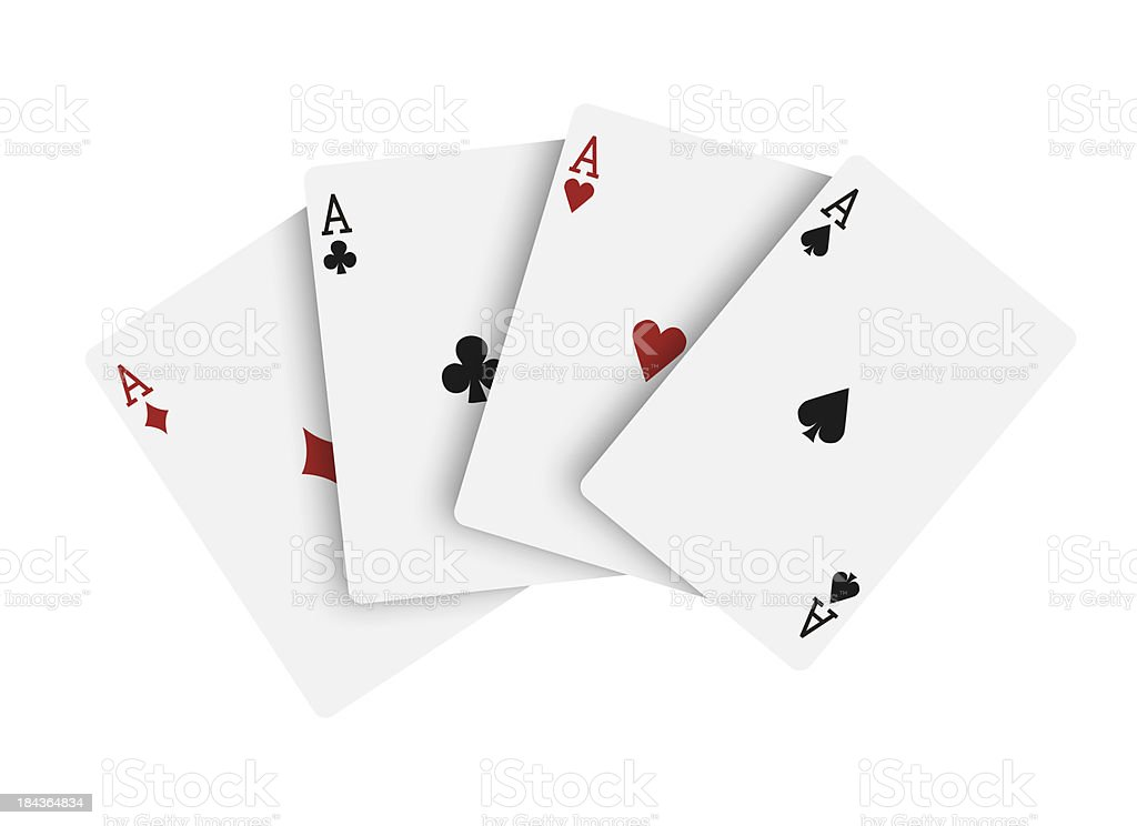 Four aces, playing cards stock photo