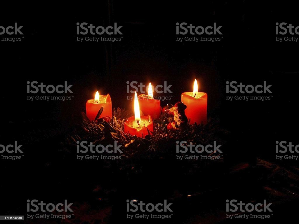 Four Advent candles royalty-free stock photo