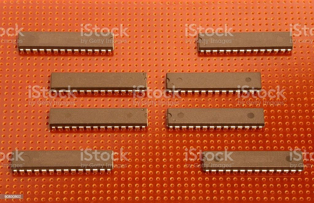 Four and 4 ic stock photo