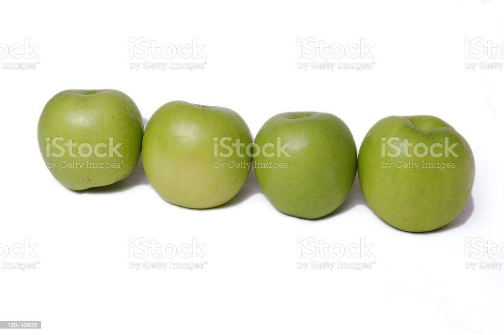 Four Apple royalty-free stock photo