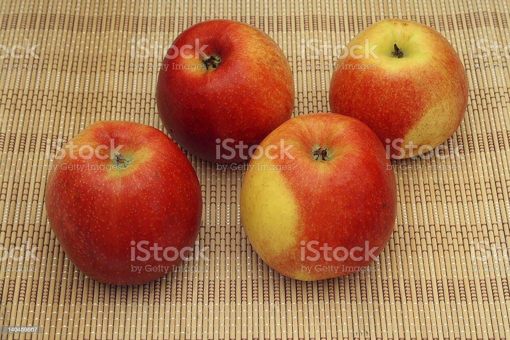 four apples royalty-free stock photo