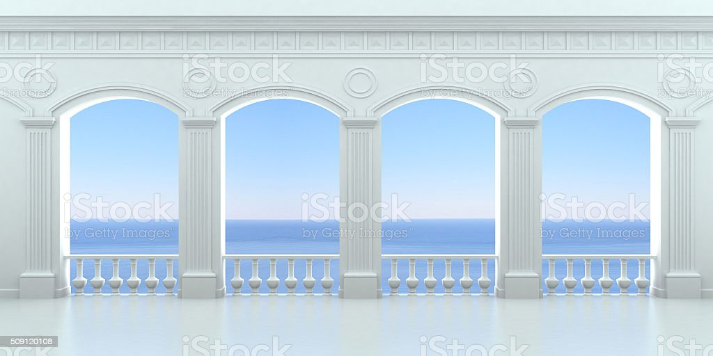 Four arched niches 3 stock photo