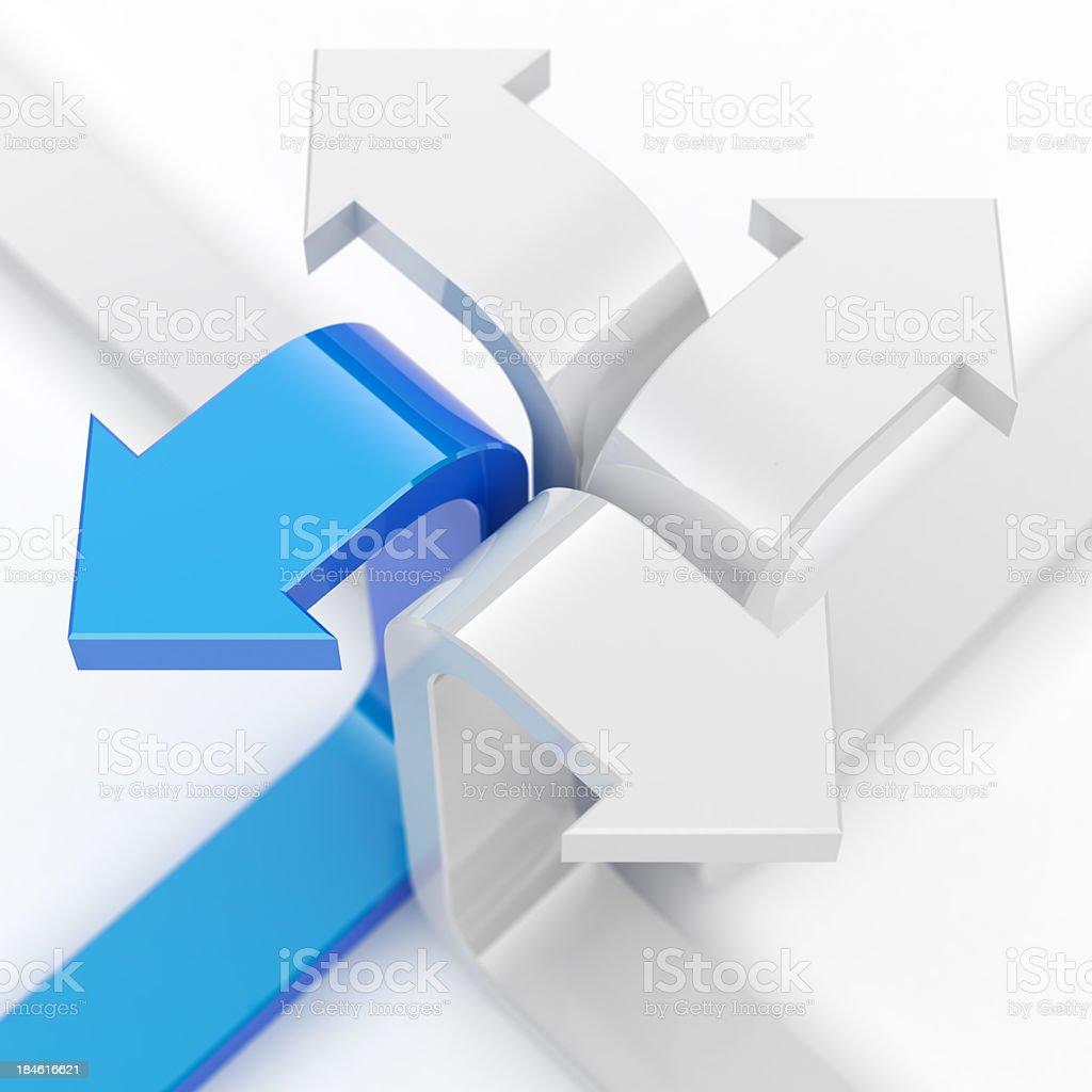 Four arrows. royalty-free stock photo