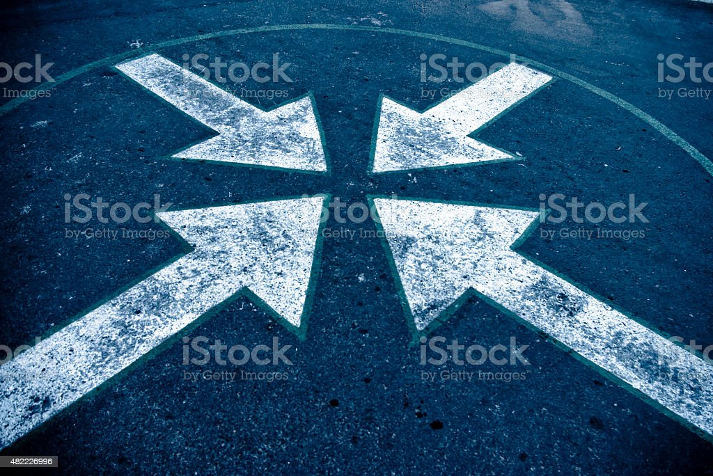 four arrows stock photo