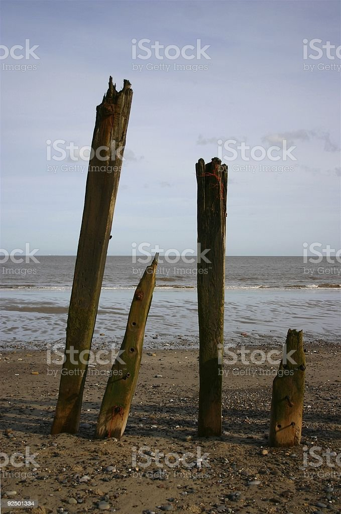 four as posts stock photo