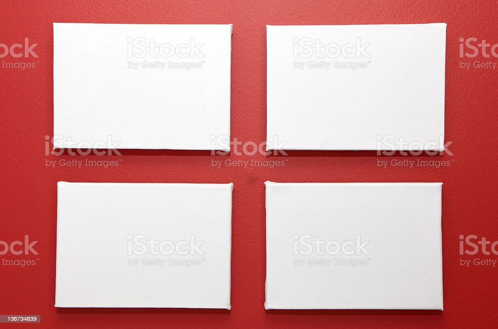 four blank canvases royalty-free stock photo