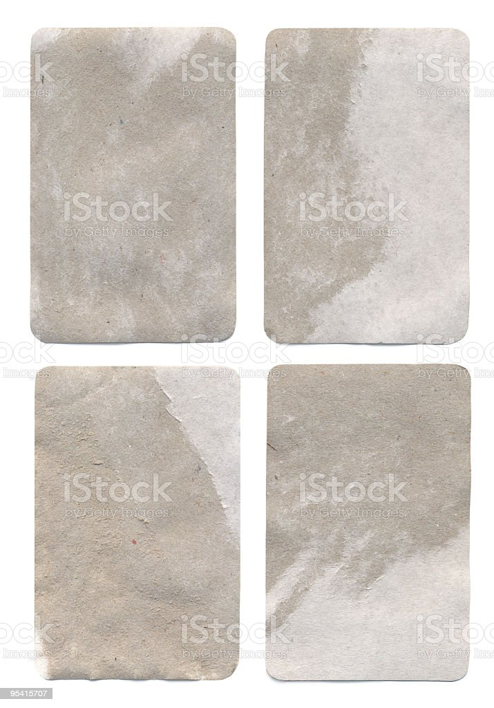 Four Blank Card royalty-free stock photo