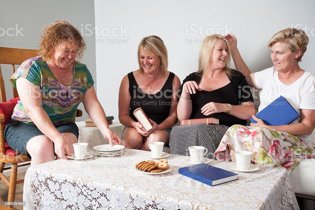 Four Book Club Women stock photo