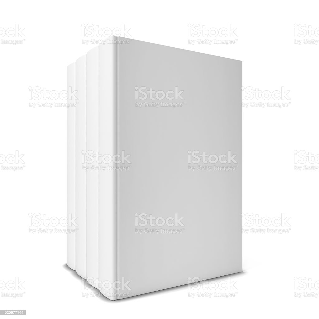 Four books in a row stock photo