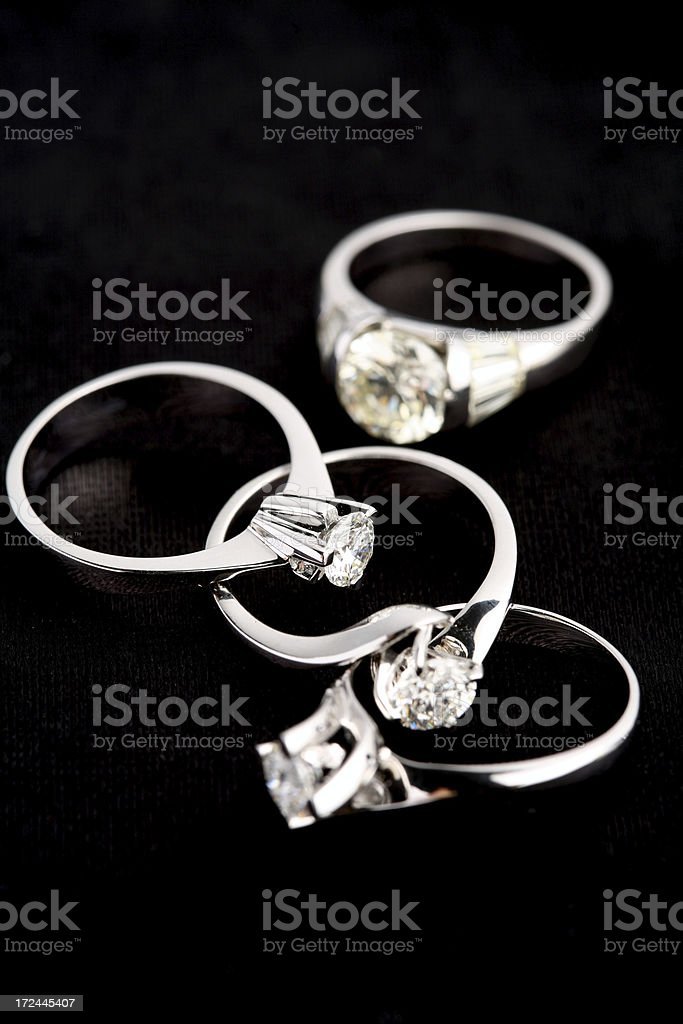 Four Brilliant Ring royalty-free stock photo