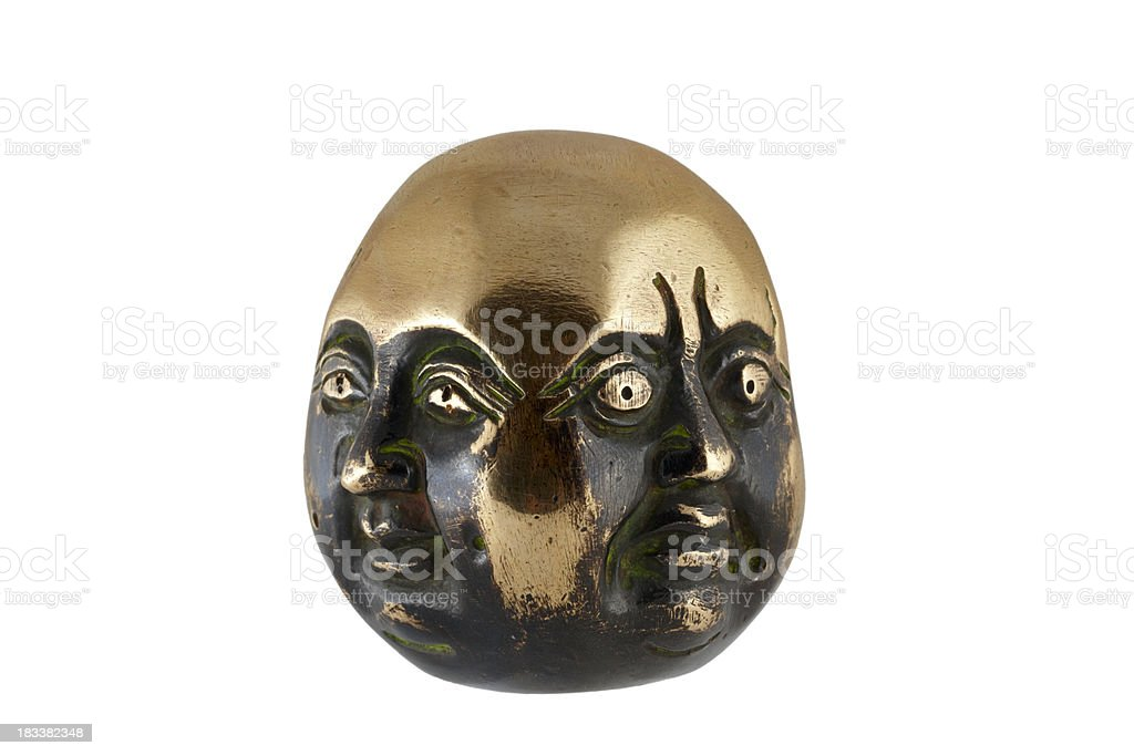 Four budha face. Nepal. royalty-free stock photo