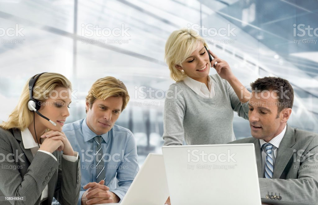 Four Businesspeople royalty-free stock photo