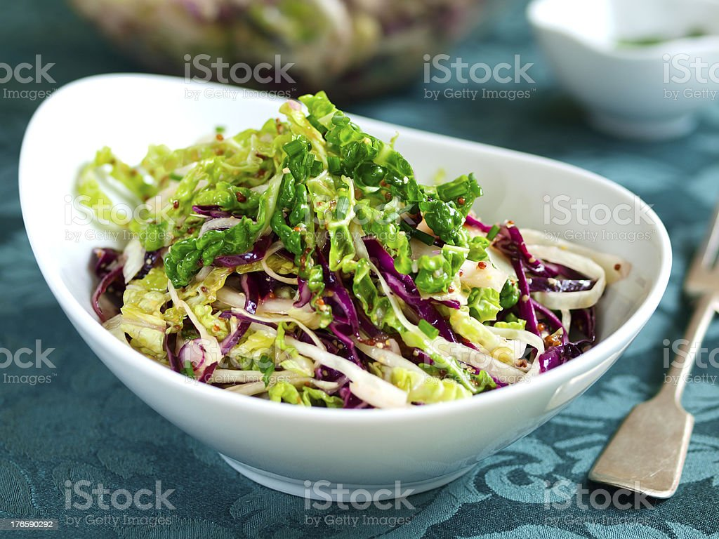Four cabbage coleslaw royalty-free stock photo