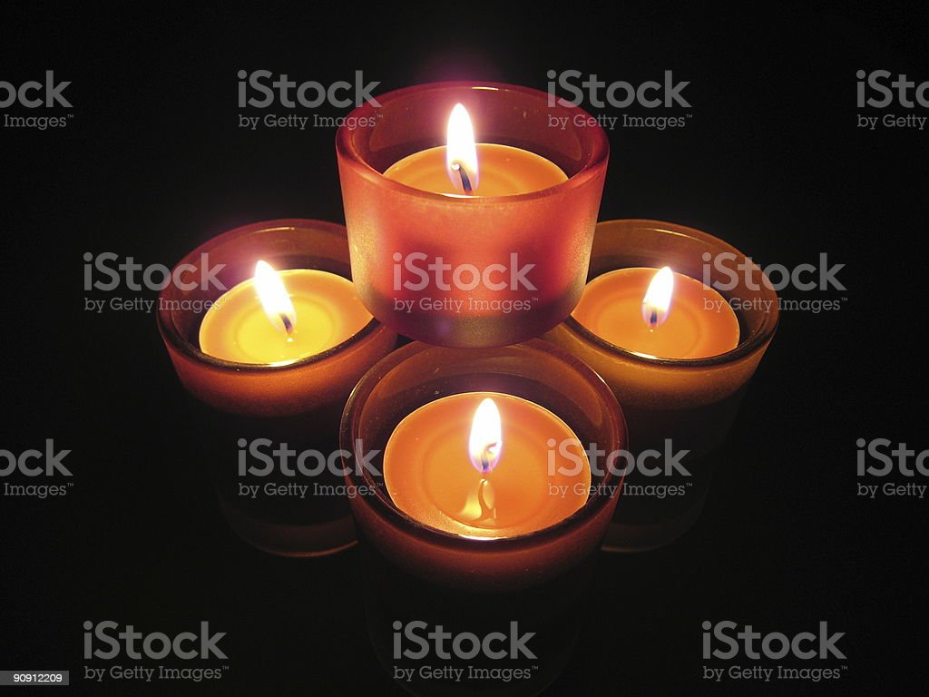 Four candles royalty-free stock photo