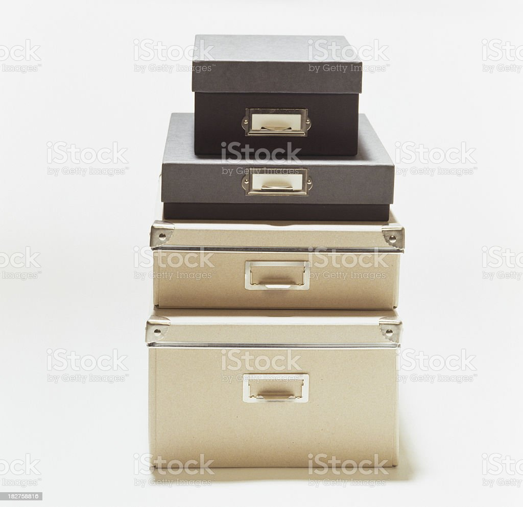 Four cardboard boxes royalty-free stock photo