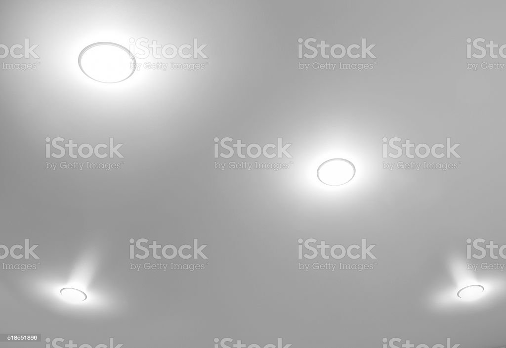 Four ceiling lights stock photo