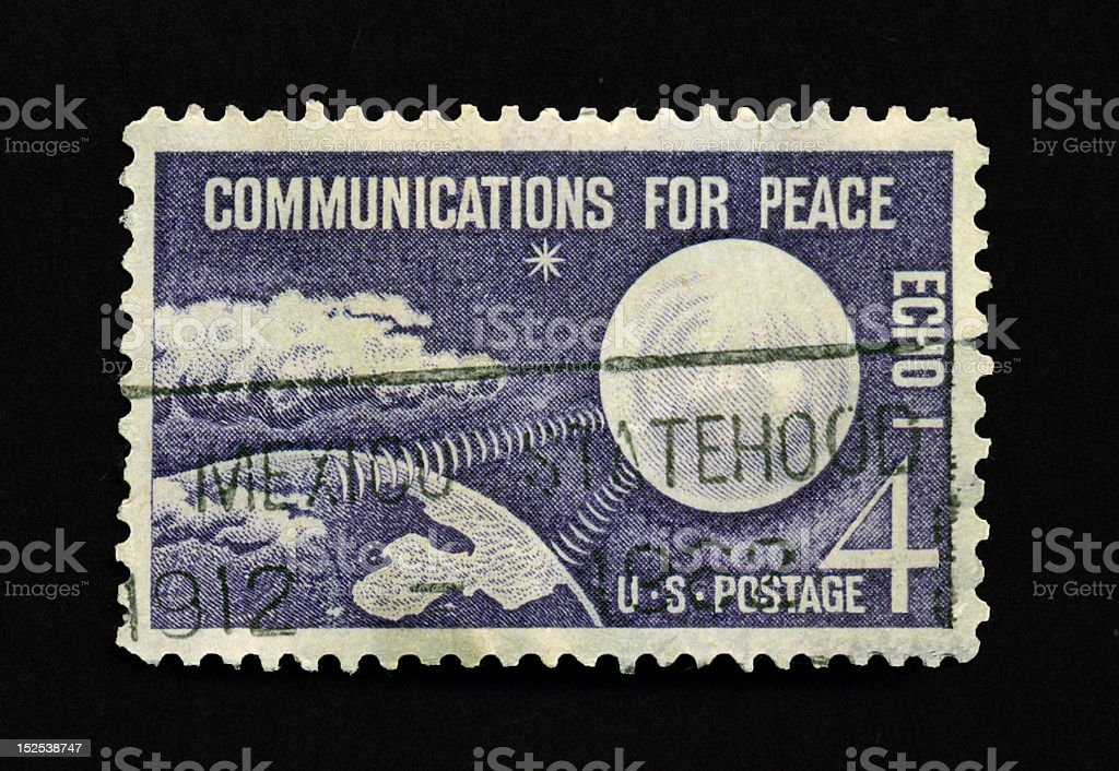 Four Cent Communication For Peace Stamp royalty-free stock photo